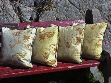 pillows in a row